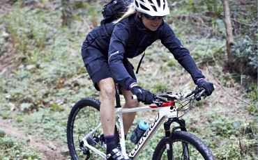 image of female mountain biker