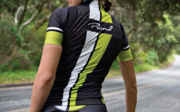 image of rider wearing primal cycling jersey and shorts