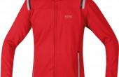 Imagen de una chaqueta roja Gore Running Wear Soft Shell